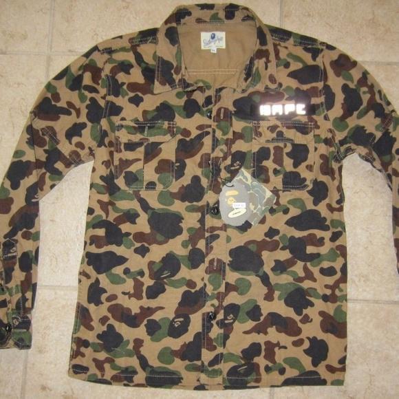 d25f3a01 Bape Shirts | Camo Button Down 3m Long Sleeve Rare | Poshmark